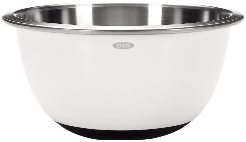 - OXO Good Grips 5-Quart White Stainless Steel Mixing Bowl