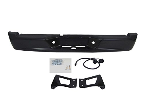 Dodge Dakota Step Bumper - FOR 2005-2011 Dodge Dakota Rear Step Bumper Full Assy Powder Coating Black (With Bumper Pad, License Lamp, with Brackets) CH1103114