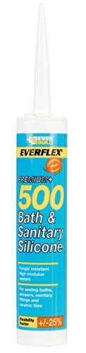 Everflex 500 Bath & Sanitary Silicone - Anti-fungal silicone sealant -...