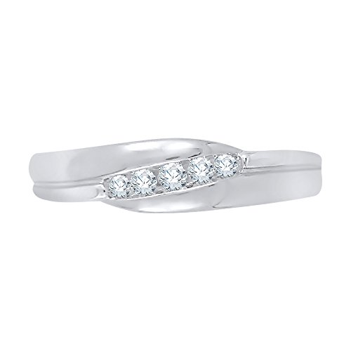 - KATARINA Diamond Fashion Ring in Sterling Silver (1/8 cttw, J-K, SI2-I1) (Size-13)