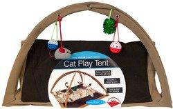 Cat Wmu - WMU Fleece Cat Play Tent with Dangle Toys