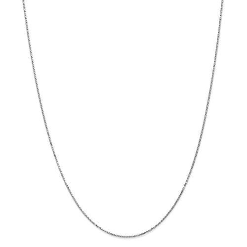 Chain Solid Platinum Wheat - Mia Diamonds 14k Solid White Gold 1.2mm Parisian Wheat Necklace Chain -18