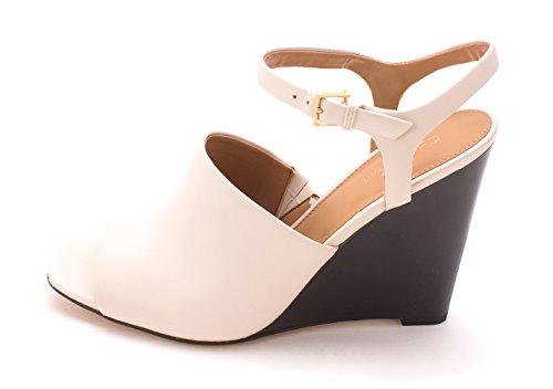 Calvin Klein Womens PIRRA Open Toe Casual Platform Sandals, Soft White, Size 6.5