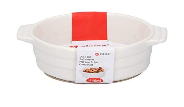 Alpina - Bandeja ovalada de cerámica para horno a mesa, 440 ml ...