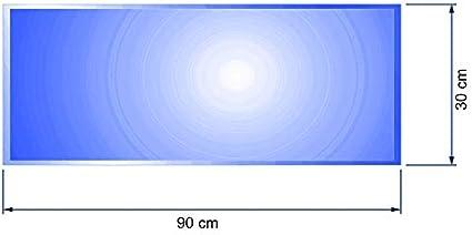 bijon/® Glasplatte Kaminofen inkl Rechteck Funkenschutz-Platte mit Glas mit Facettenschliff Silikon-Dichtlippe mit Dichtlippe Kaminschutz mit ESG Sicherheitsglas 500 x 1200 x 6mm