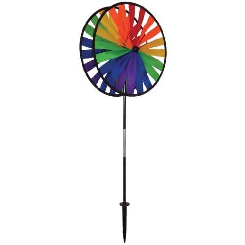 Discount In the Breeze Rainbow Duo Wheels Garden Spinner supplier