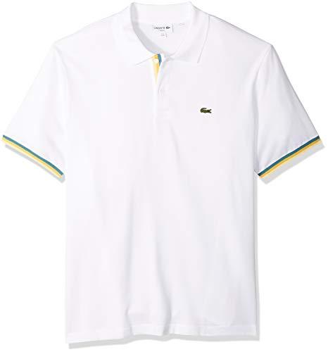 Buy lacoste white polo men