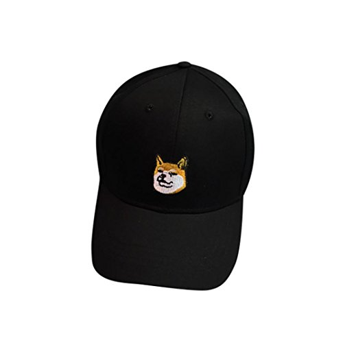 Unisex Dog Baseball Cap (Cap , WILLTOO Dog Pattern Unisex Fashion Baseball Cap Adjustable Hip Hop Hat (Black))