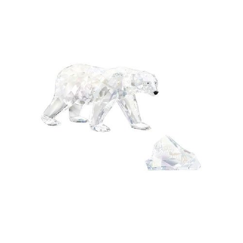 2011 Swarovski Club Piece SIKU Polar Bear With Siku Title Plaque