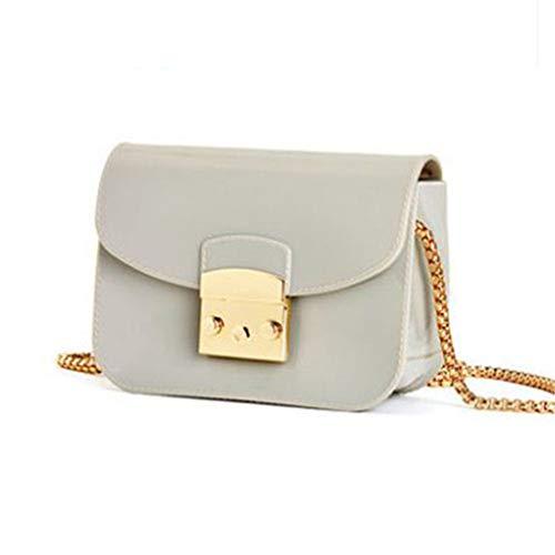 Grey Flap Jelly Light Messenger Bolso Grey Light Bolso Pink Bag gafqwz