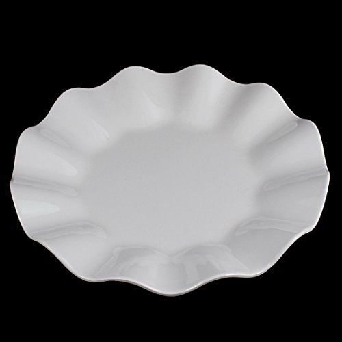 DealMux Wavy Edge Plastic Lunch Food Fruit Dish Plate Container Tableware