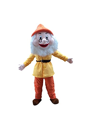 7 Dwarfs Of Snow White Mascot Costume Cosplay Fancy Dress Outfit (Style 1)]()