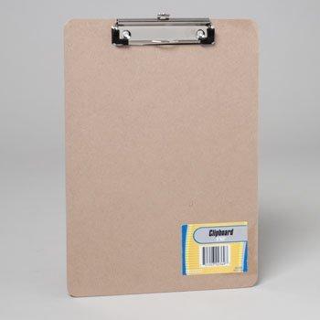 CLIPBOARD 9X12 CHIPBOARD W/FLAT CLIP-SHRINK W/STAT LABEL, Case Pack of 24 -
