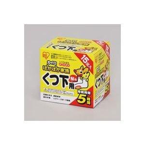 ( お徳用 30セット ) アイリスオーヤマ ぽかぽか家族 貼る靴下用 15足 PKN-15HK   B01M4L2697