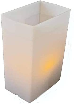 Flic Luminary Light Sets – Hard Plastic Reuseable Weather Proof Box with LED Tea Lights White
