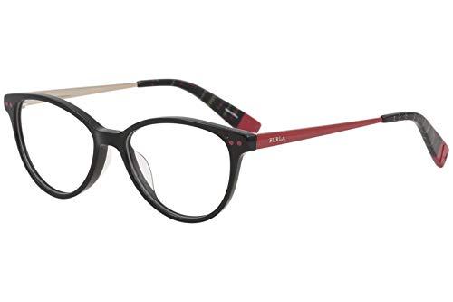 4fca7124509 Furla Women s Eyeglasses VFU083 VFU 083 0700 Black Full Rim Optical Frame  51mm