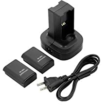 Generic Dual Battery Charger Charging Station Compatible With Xbox360