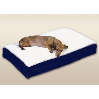 Snoozer Rectangle Pillow Pet Bed, Black Snoozer with Fur, Medium, Hunt Plaid (Medium Pet Beds Paisley)