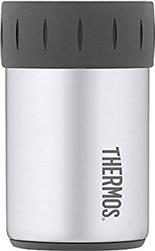 Thermos Stainless Steel Beverage Can Insulator for 12 Ounce Can, Gunmetal Gray - 2 Pack