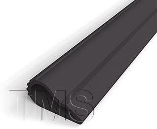 TMS Door-seal Self Adhesive Weatherstrip Teardrop Seals Sound Light and Draft//.5 Wide//20 Roll White