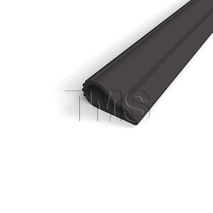 Adhesive Weatherstrip, .5'' Wide High Quality Silicone Teardrop (20' Roll, Black) by Trademark Soundproofing