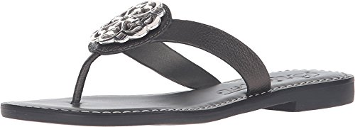 Brighton Pewter Gray Ferrara Alice Leather Thong Sandals (6M)