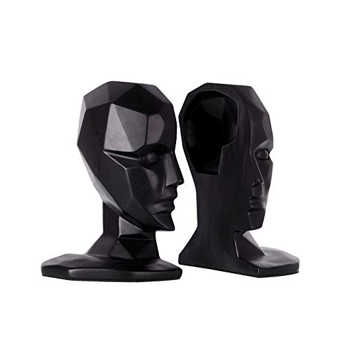(Bookends, Thinker Resin Book Stand Jewelry Creative Retro Book Block Living Room Decoration Book Clip Crafts Home Decoration Ornaments,Black)