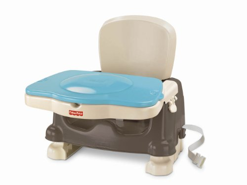 Fisher-Price Healthy Care Deluxe Booster Seat, Brown/Tan Deluxe Booster