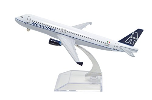 TANG DYNASTY(TM) 1:400 16cm Air Bus A320 Mexicana Airlines Metal Airplane Model Plane Toy Plane Model