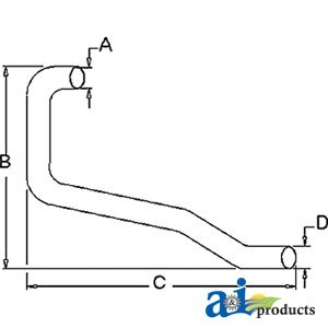 A&I - Horizontal Outlet Pipe (1961-1964 ROW CROP W/ 172 GAS ENGINE & SELECT-O...