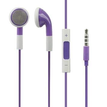 Auriculares estéreo de Doble Color DE 3,5 mm con Control de Volumen ...