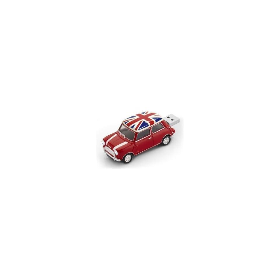 Mini Cooper Red British Pavilion USB Flash Drive   Data Storage Device   4GB   Key Ring Included