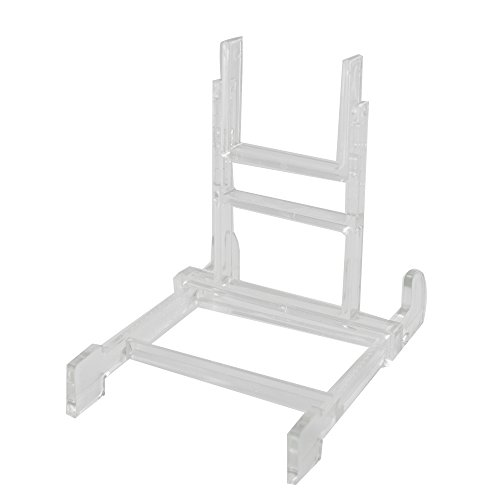 5 Plastic Acrylic (Two Part Adjustable Clear Acrylic Plastic Display Stand Easel (set of 5))