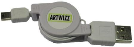 Artwizz USB Mini to USB Cable Retractable Mini USB Cable White