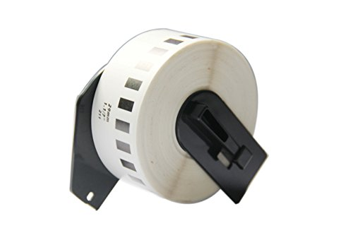 Brother White Film - IDIK-22211 Replacement Labels Compatible with Brother DK-2211 Black on White Film Label 29mm x 15.5m/roll Packed in Individual Printed Retail Box with Permanent Cartridge