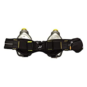 Nathan Mercury 2 Bottle Hydration Belt, Black, One Size