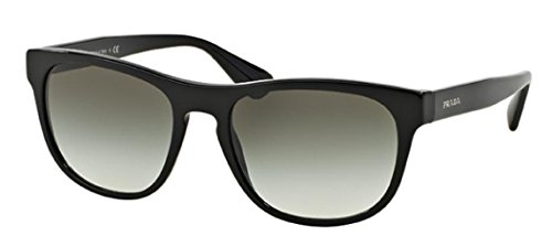 Prada PR14RS 1BO1A1 Matte Black PR14RS Wayfarer Sunglasses Lens Category 3 - Sunglasses Style Wayfarer Prada