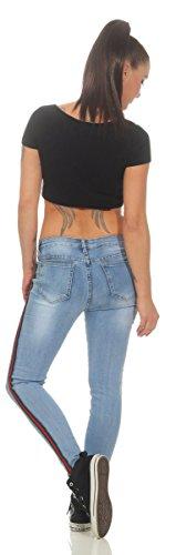 Clair OSAB Jeans Fashion Bleu Femme YRvSqZ