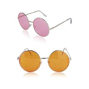 Sunny Pro Round Sunglasses Retro Circle Tinted Lens Glasses UV400 Protection