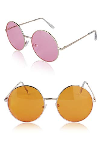 Non-Prescription Glasses Joplin Gift 70s 90s Ladies Fun Disco UV 400 Pink -
