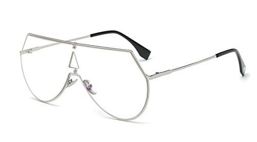 coreana LSHGYJ de de películas de de Siameses color la GLSYJ light tendencias sol Silver las hombres frame gafas en gafas sol gafas versión rojo mirror bastidor grande metal sol neto xPwxq