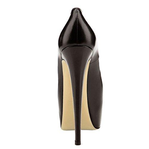 Matte femme Stiletto en Y 069 Leather Noir Plateforme Coppy Classic verni cuir Escarpins pour EKS 5aBqHW6q