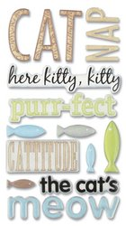 (Sticko Phrase Cafe Epoxy Stickers, Cat)