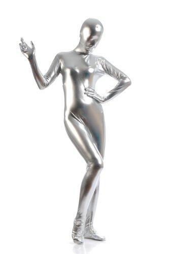 WOLF UNITARD Women's Shiny Metallic Zentai Catsuit Large