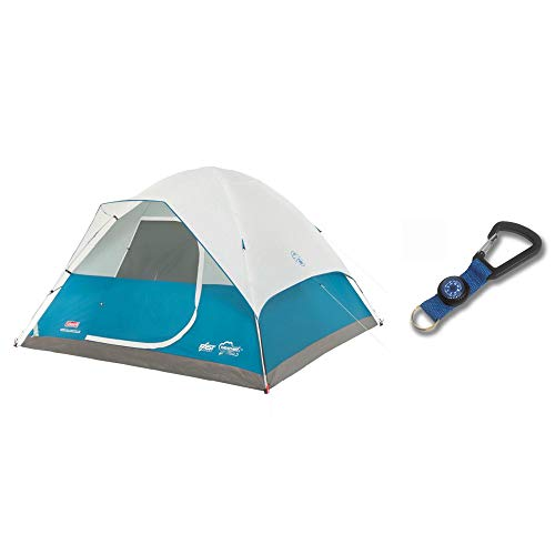 Person Family Camp Tent + Silva Carabiner Key Ring Compass ()