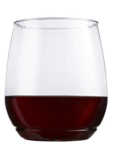 TOSSWARE 14oz Shatterproof Wine & Cocktail Glass, SET OF 12 BPA-Free Upscale Recyclable/Disposable Plastic Vino