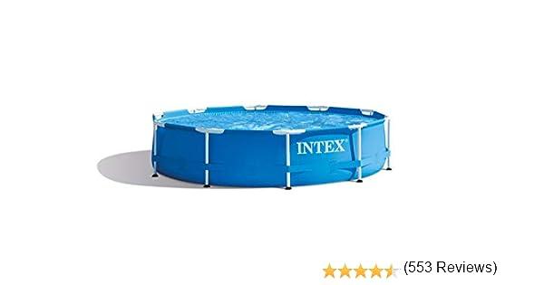 INTEX 28200NP Piscina elevada Metal Frame, 4485 litros, 305x76 cm ...