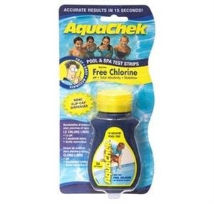 Aquachek Chlorine 4 in 1 Test strips for Swimming Pools and Hot Tubs