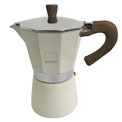 Gnali & Zani Venezia Espressokocher, creme, 6 Tassen Cafetera Italiana, aluminio, beige