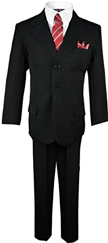 Boys Pinstripe Suit with Matching Tie Size 2-20 (12, -